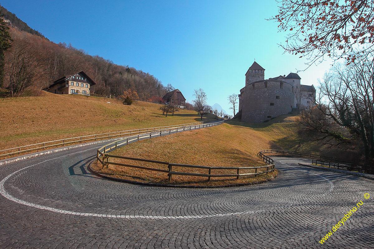 Лихтенштейн Liechtenstein Vaduz Замок Вадуц