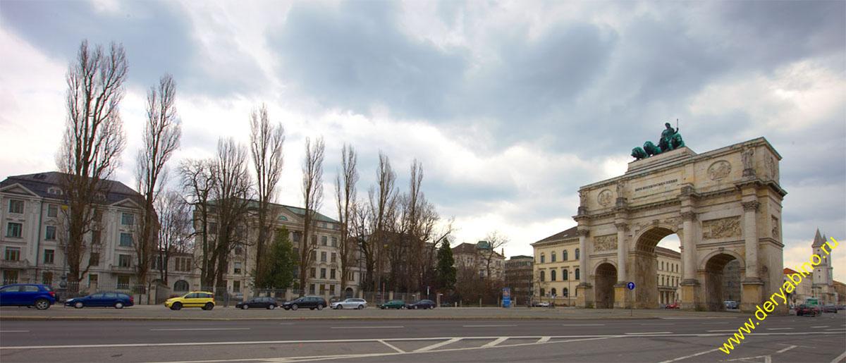 Мюнхен Триумфальная арка Siegestor