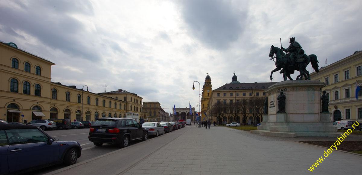 Мюнхен Памятник королю Людвигу