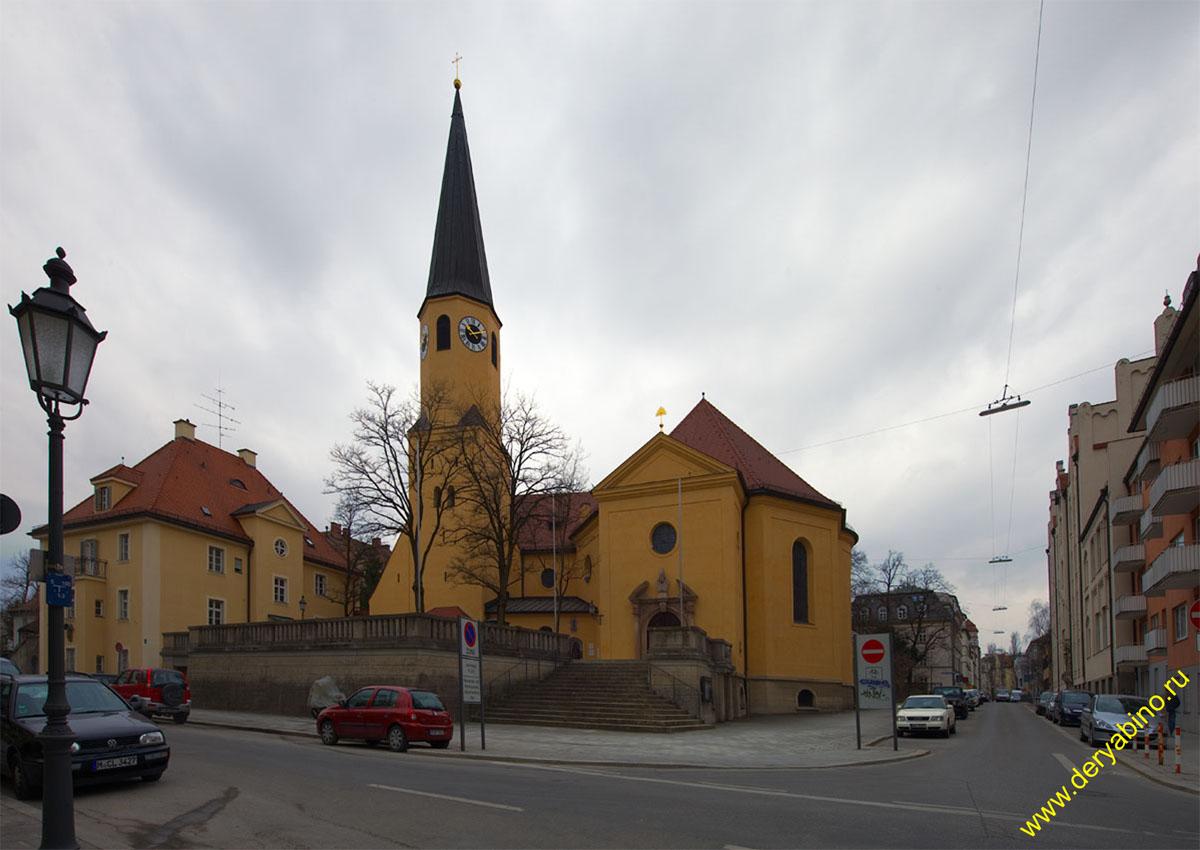 Мюнхен св. Сильвестра kirche St. Sylvester
