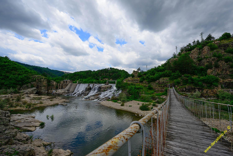 Канатный мост через р.Арда у села Паспал