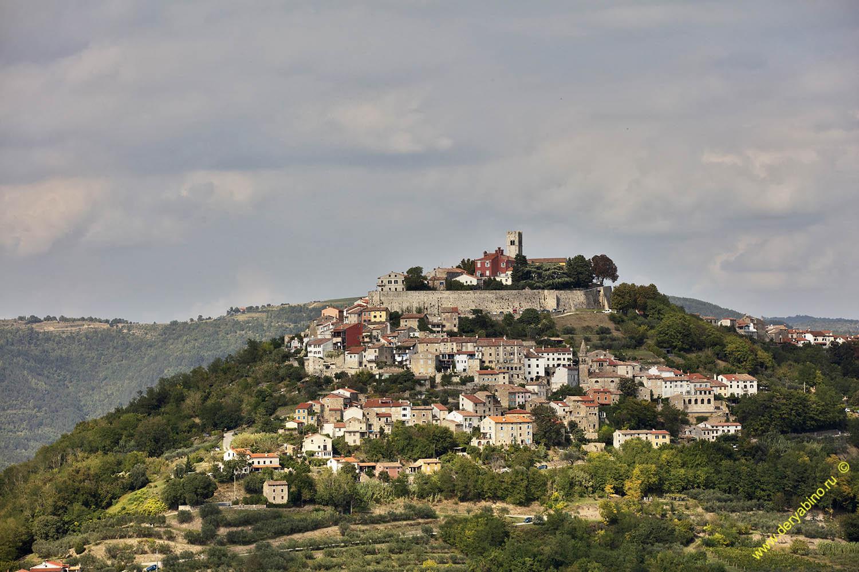 Хорватия Город Мотовун Motovun Croatia