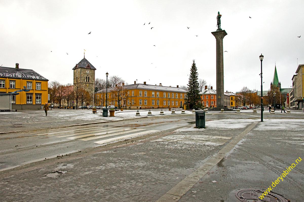 Тронхейм Норвегия Trondheim Norway Площадь Торгет Torget