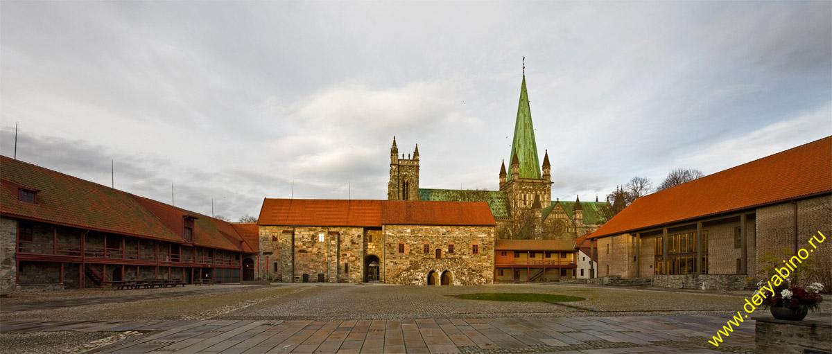 Тронхейм Норвегия Trondheim Norway Нидаросский собор (Nidaros Cathedral)