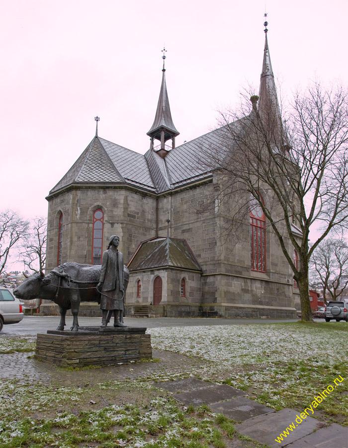 Тронхейм Норвегия Ilen kirke Trondheim Norway
